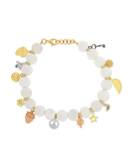 Carolina Bucci | Metallic Recharmed Lucky 18-karat Yellow, Rose And White Gold And Agate Bracelet | Lyst