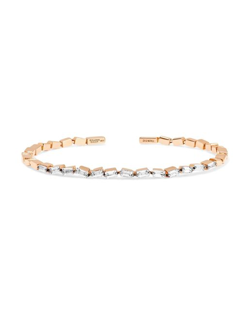 Suzanne Kalan - Metallic 18-karat Rose Gold Diamond Cuff - Lyst