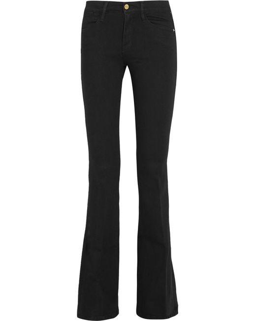 FRAME - Black Le High Flare High-rise Jeans - Lyst