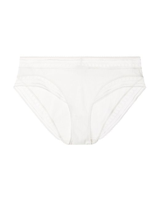 Paroles Chanson Stretch-cloque And Leavers Lace Briefs - Black Eres Discount Buy Outlet Finishline 5o3At2g