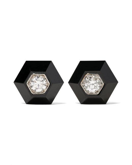 Fred Leighton - Metallic Collection 18-karat White Gold, Jade And Diamond Earrings White Gold One Size - Lyst