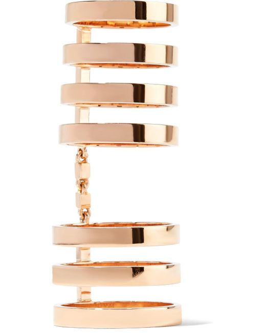 Repossi - Multicolor Berbère 18-karat Rose Gold Ring - Lyst
