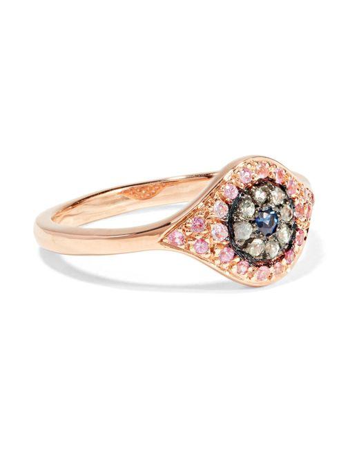 Ileana Makri | Multicolor Cats Eye 18-karat Rose Gold Sapphire Ring | Lyst