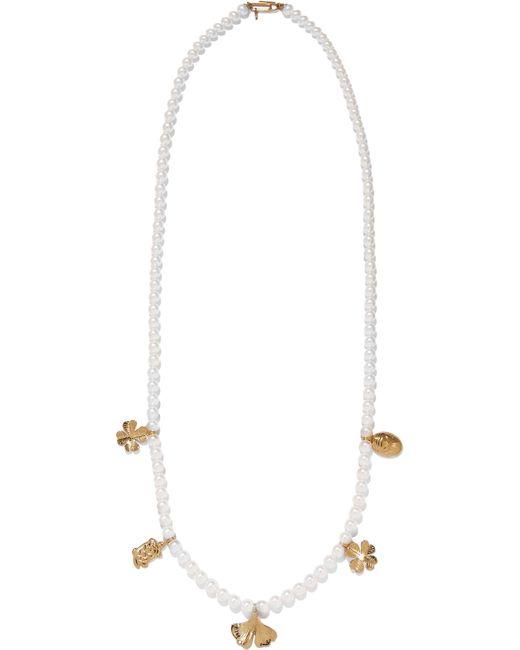 Aurelie Bidermann   Metallic Cheyne Walk Faux Pearl Gold-plated Necklace   Lyst