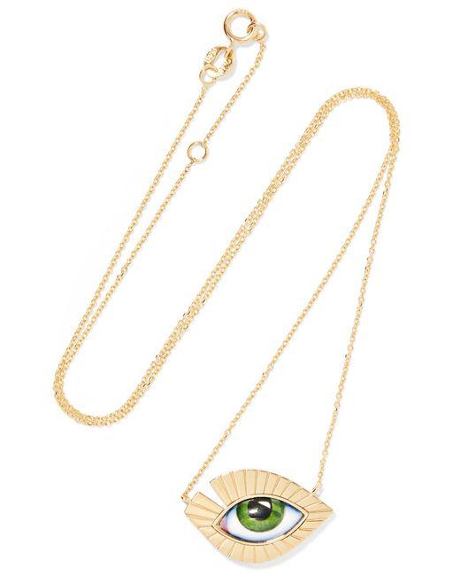 Lito - Metallic Tu Es Partout 14-karat Gold Enamel Necklace - Lyst