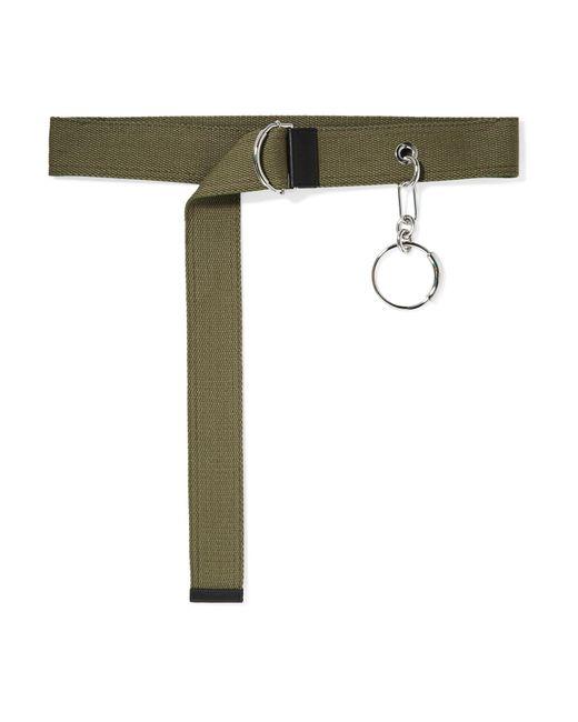 Chloé - Green Embellished Canvas Waist Belt - Lyst