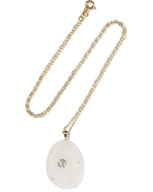 Cvc Stones - Metallic Cumulus 18-karat Gold, Stone And Diamond Necklace - Lyst