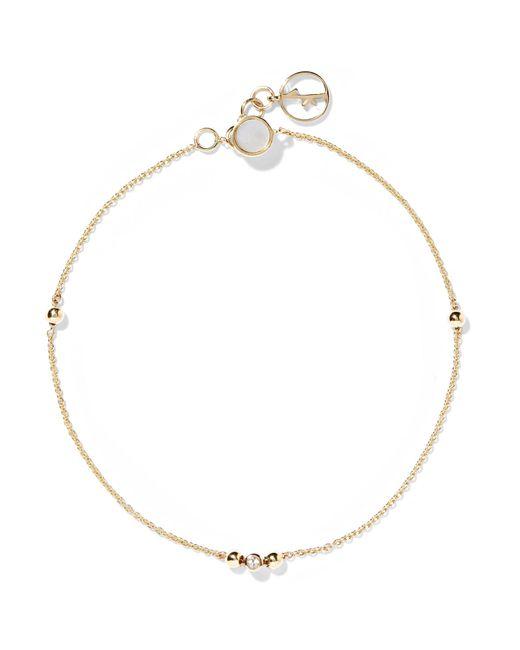 Anissa Kermiche - Metallic 14-karat Gold, Sapphire And Mother-of-pearl Bracelet - Lyst