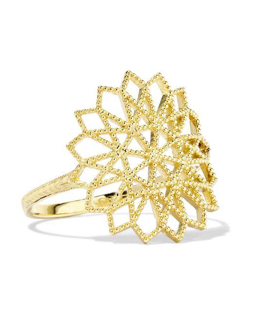 Grace Lee - Metallic Lace Deco Vi 14-karat Gold Ring Gold 6 - Lyst