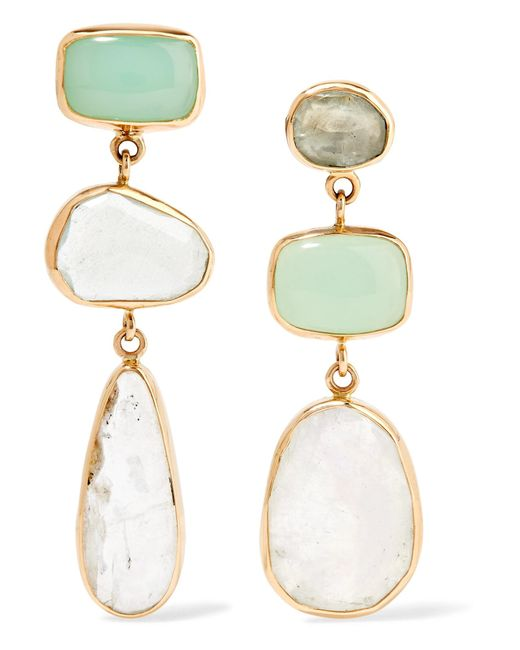 Melissa Joy Manning | Metallic 14-karat Gold, Sterling Silver And Multi-stone Earrings | Lyst