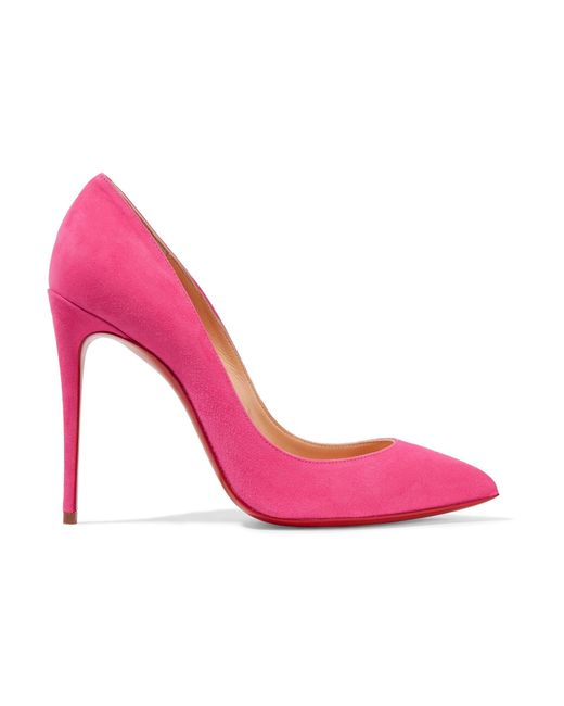 Christian Louboutin | Pink Pigalle Follies 100 Suede Pumps | Lyst