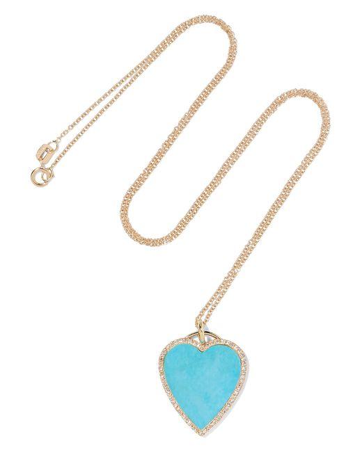 Jennifer Meyer - Metallic 18-karat Gold, Turquoise And Diamond Necklace - Lyst