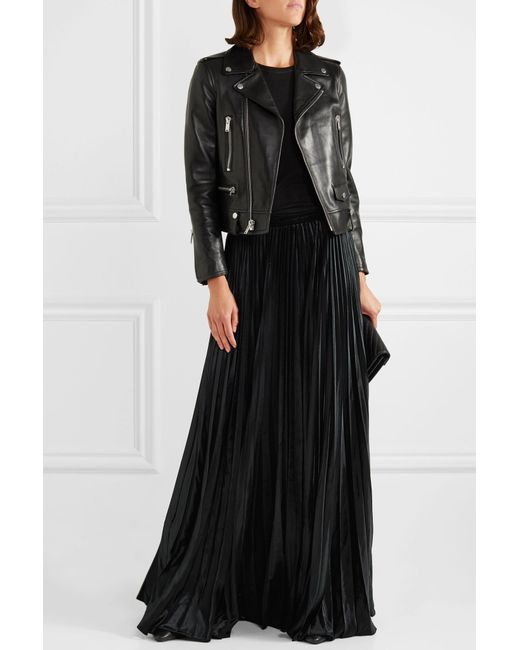 d87821a0956 Lyst - Saint Laurent Pleated Long Skirt in Black - Save 46%