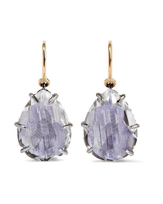 Larkspur & Hawk | Purple Caterina Rhodium-dipped Quartz Drop Earrings | Lyst