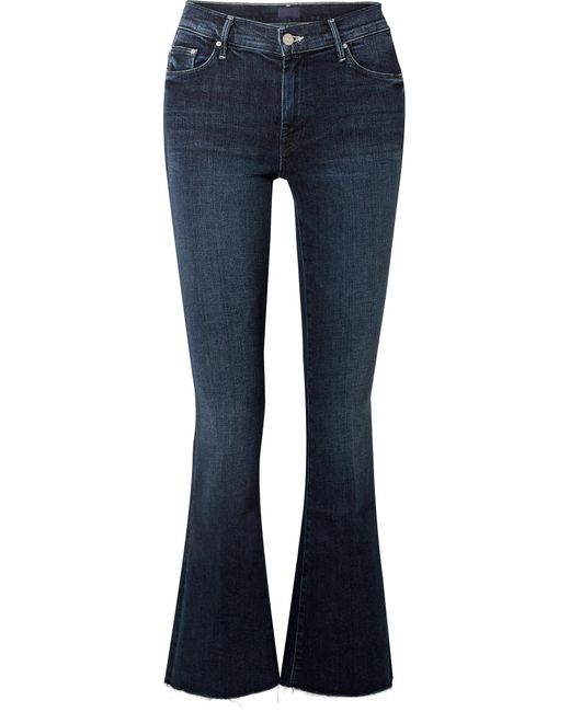Mother - Blue The Weekender Fray High-rise Flared Jeans - Lyst