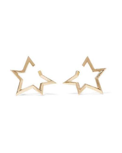 Jennifer Fisher - Metallic Baby Classic Star Gold-plated Earrings - Lyst