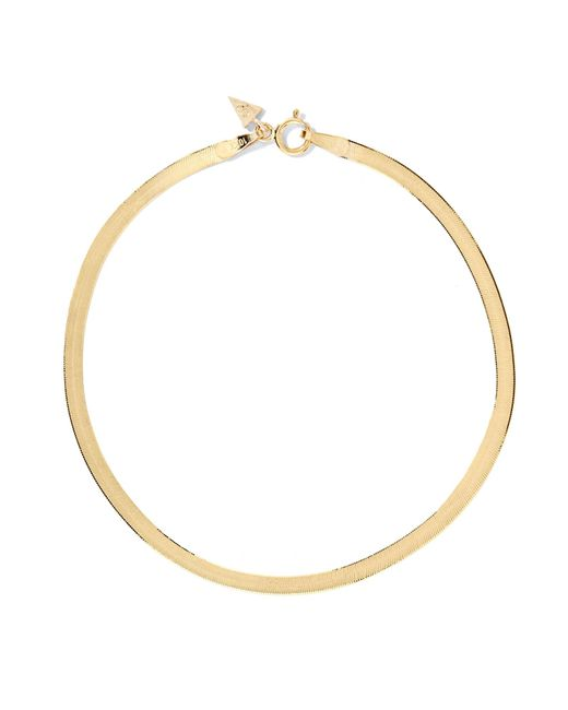 Loren Stewart - Metallic Herringbone 10-karat Gold Bracelet Gold One Size - Lyst