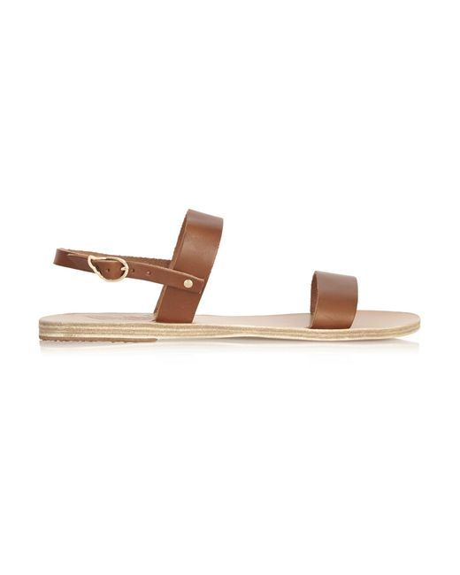 Ancient Greek Sandals | Brown Clio Leather Sandals | Lyst