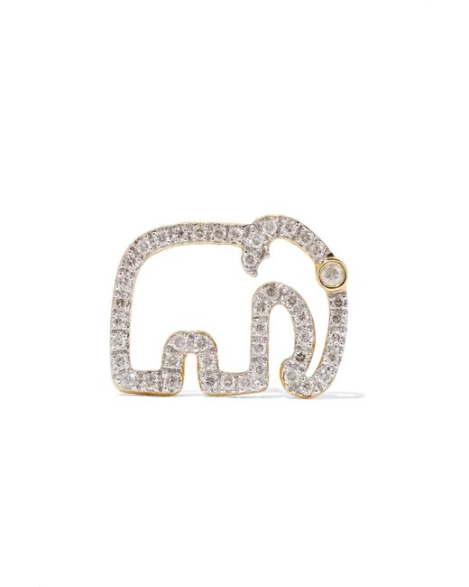Yvonne Léon - Metallic 18-karat Gold Diamond Earring - Lyst