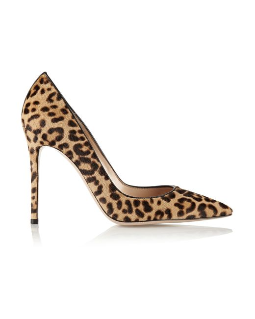 Gianvito Rossi | Blue 100 Leopard-print Calf Hair Pumps | Lyst