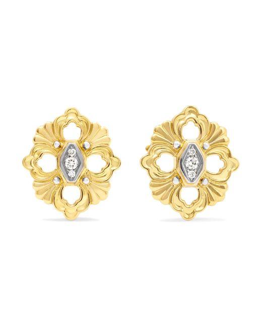 Buccellati - Metallic Opera 18-karat Yellow And White Gold Diamond Earrings - Lyst