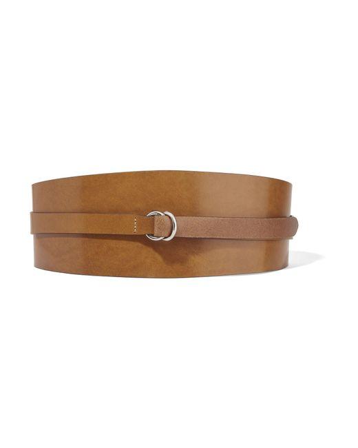 Isabel Marant - Brown Cajou Leather Waist Belt - Lyst
