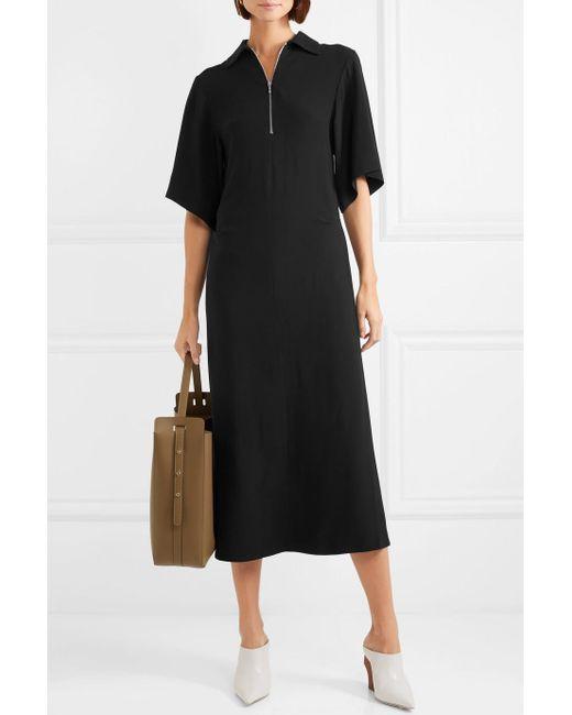 Fletcher Crepe Midi Dress - Black Joseph Free Shipping Genuine New Arrival Sale Online Discount Manchester Great Sale Outlet Hot Sale Cheap Best Wholesale sG2pIQR3no