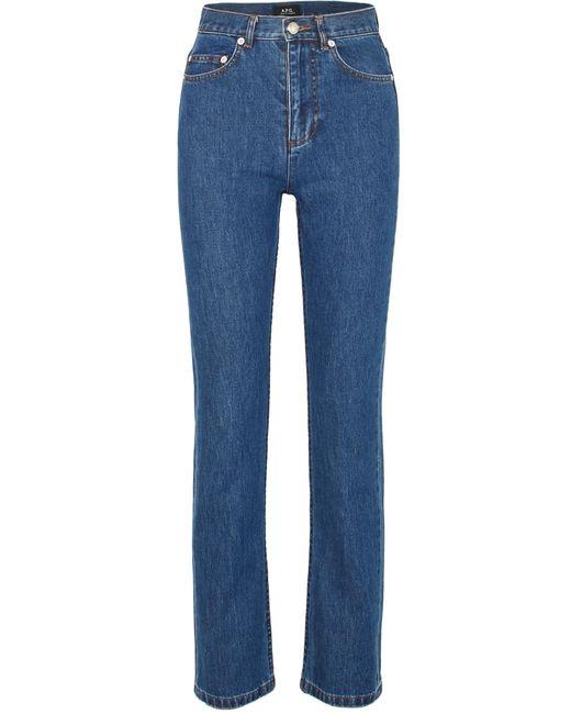 A.P.C. - Blue Standard High-rise Straight-leg Jeans - Lyst