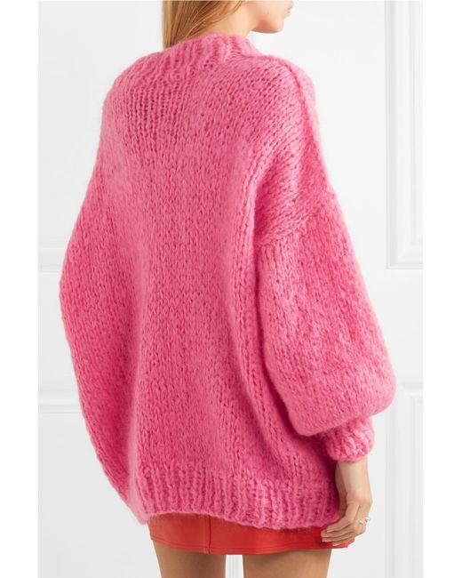 ... The Knitter - Pink The Bubblegum Mohair-blend Sweater - Lyst ... 7a621e8c9