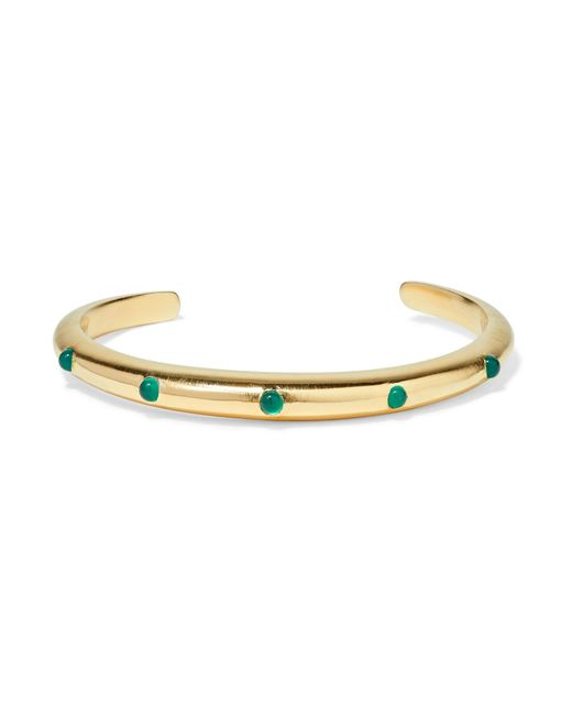 Elizabeth and James | Metallic Georgia Gold-plated Agate Cuff | Lyst