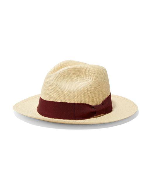 f22606ce3fa3c Sensi Studio - Natural Grosgrain-trimmed Toquilla Straw Panama Hat - Lyst  ...