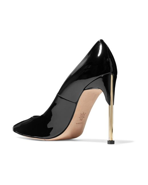 f7a2e5ddcd68 ... Alexander McQueen - Black Patent-leather Pumps - Lyst ...