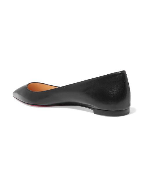 292f7252f7e ... Christian Louboutin - Black Ballalla Leather Ballet Flats - Lyst ...