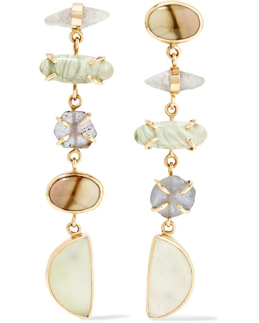 Melissa Joy Manning | Metallic 14-karat Gold And Sterling Silver Multi-stone Earrings | Lyst