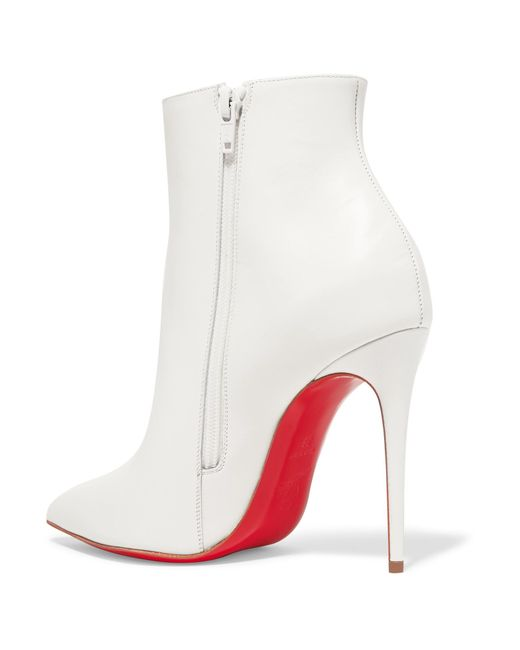 ae5f919b29a3 ... Christian Louboutin - White So Kate 100 Leather Ankle Boots - Lyst ...