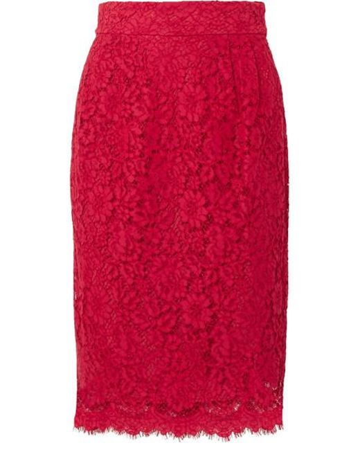 f37e8d427 J.Crew Lace Pencil Skirt in Red - Save 57% - Lyst