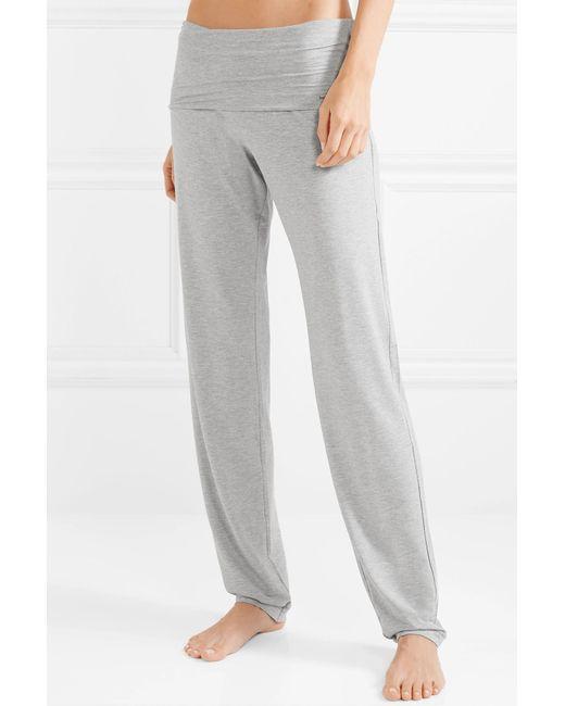 152ca04a2aa59 ... Hanro - Gray Yoga Lounge Stretch-modal Pants - Lyst ...