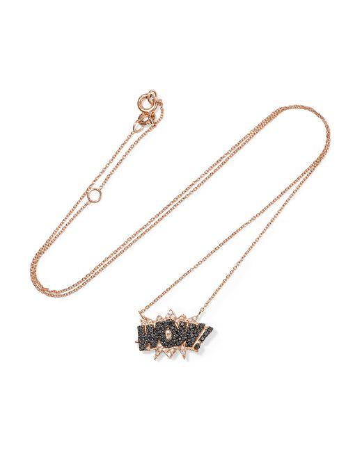 Diane Kordas | Metallic Wow! 18-karat Rose Gold Diamond Necklace | Lyst
