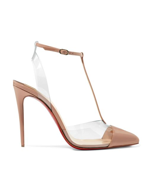 097f8a48f12 Christian Louboutin - Multicolor Nosy 100 Patent-leather And Pvc Pumps -  Lyst ...