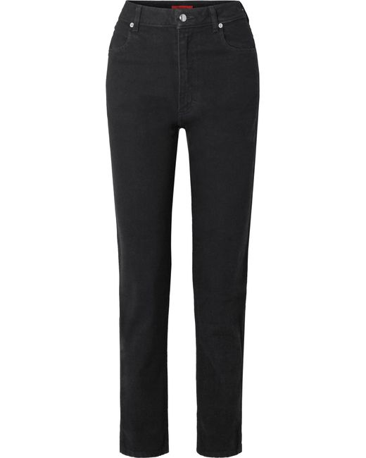 Eckhaus Latta - Black El High-rise Straight-leg Jeans - Lyst