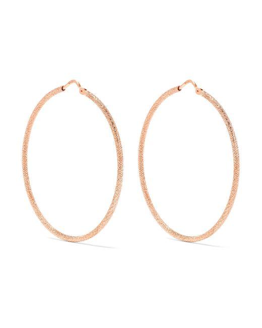 Carolina Bucci   Metallic Mirador 18-karat Rose Gold Hoop Earrings   Lyst