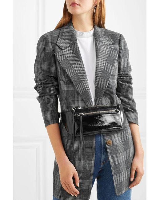 dda35cfe3628 Lyst - Rag   Bone Ellis Textured Patent-leather Belt Bag in Black