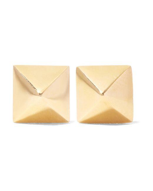 Anita Ko   Metallic Spike 14-karat Gold Earrings   Lyst