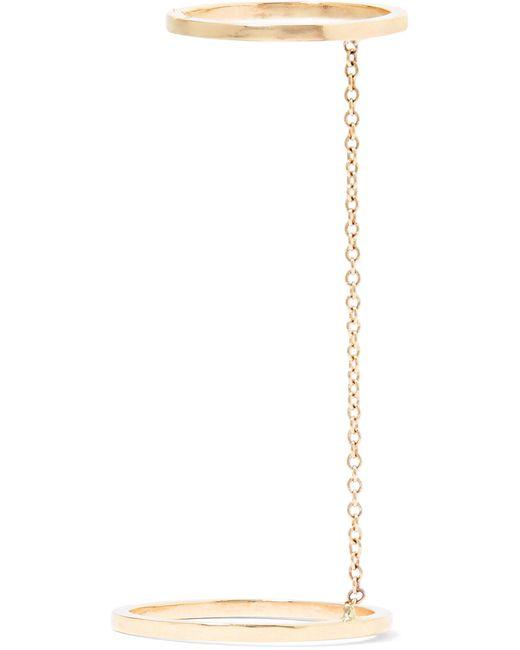 Beaufille - Metallic Parallel Lines 9-karat Gold Ring - Lyst