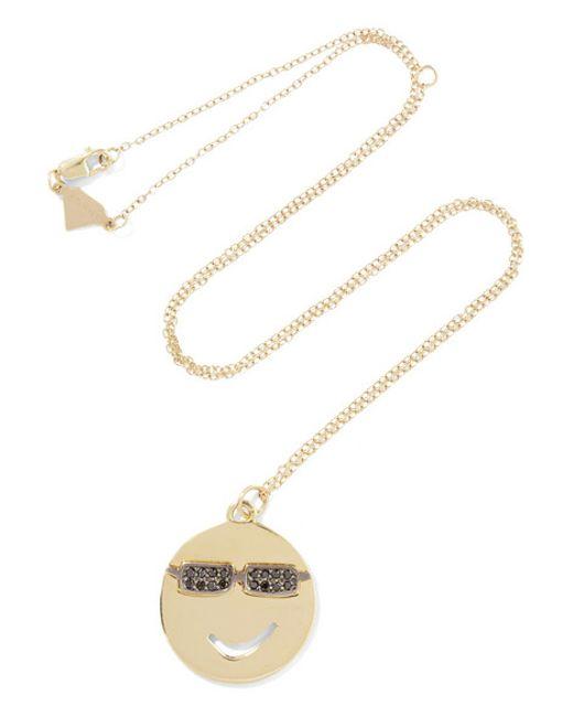 Alison Lou | Metallic Joe Cool 14-karat Gold Diamond Necklace | Lyst