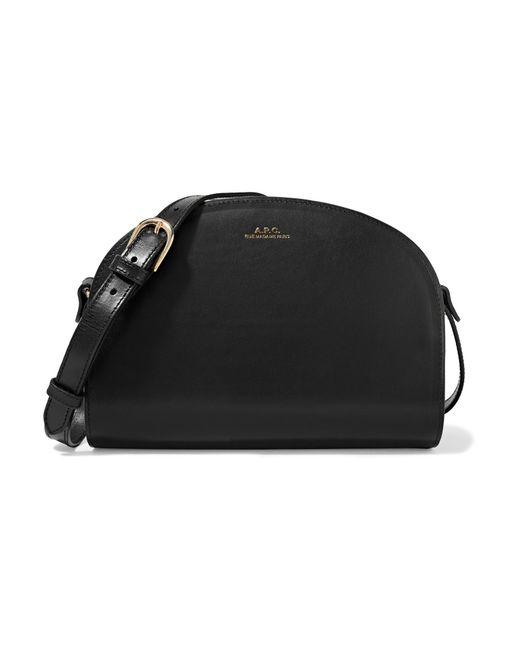 a p c sac demi lune leather shoulder bag in black lyst. Black Bedroom Furniture Sets. Home Design Ideas