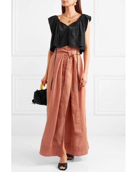 73539c8bd ... Kalita - Brown Avedon Days Linen-canvas Maxi Skirt - Lyst ...