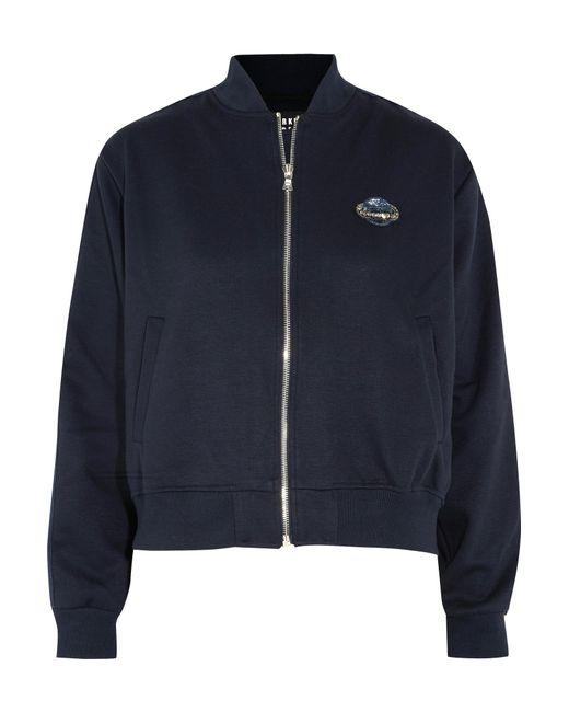 Markus Lupfer - Blue Embellished Piqué Bomber Jacket - Lyst