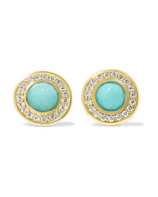 Ippolita | Metallic Lollipop® 18-karat Gold, Turquoise And Diamond Earrings | Lyst