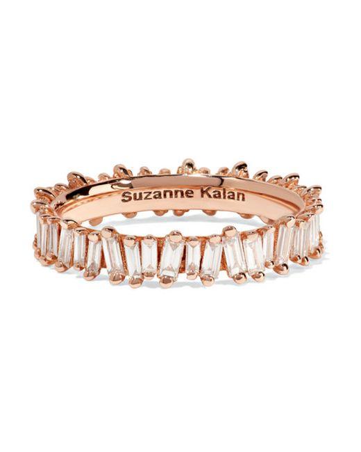 Suzanne Kalan | Metallic 18-karat Rose Gold Diamond Ring | Lyst